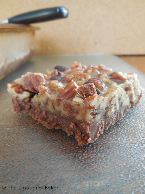 Chocolate Pecan Shortbread Bars