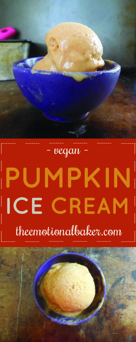 Pumpkin Ice Cream makes the best fall treat. This vegan coconut milk based one includes maple syrup and cinnamon for a sweet treat.