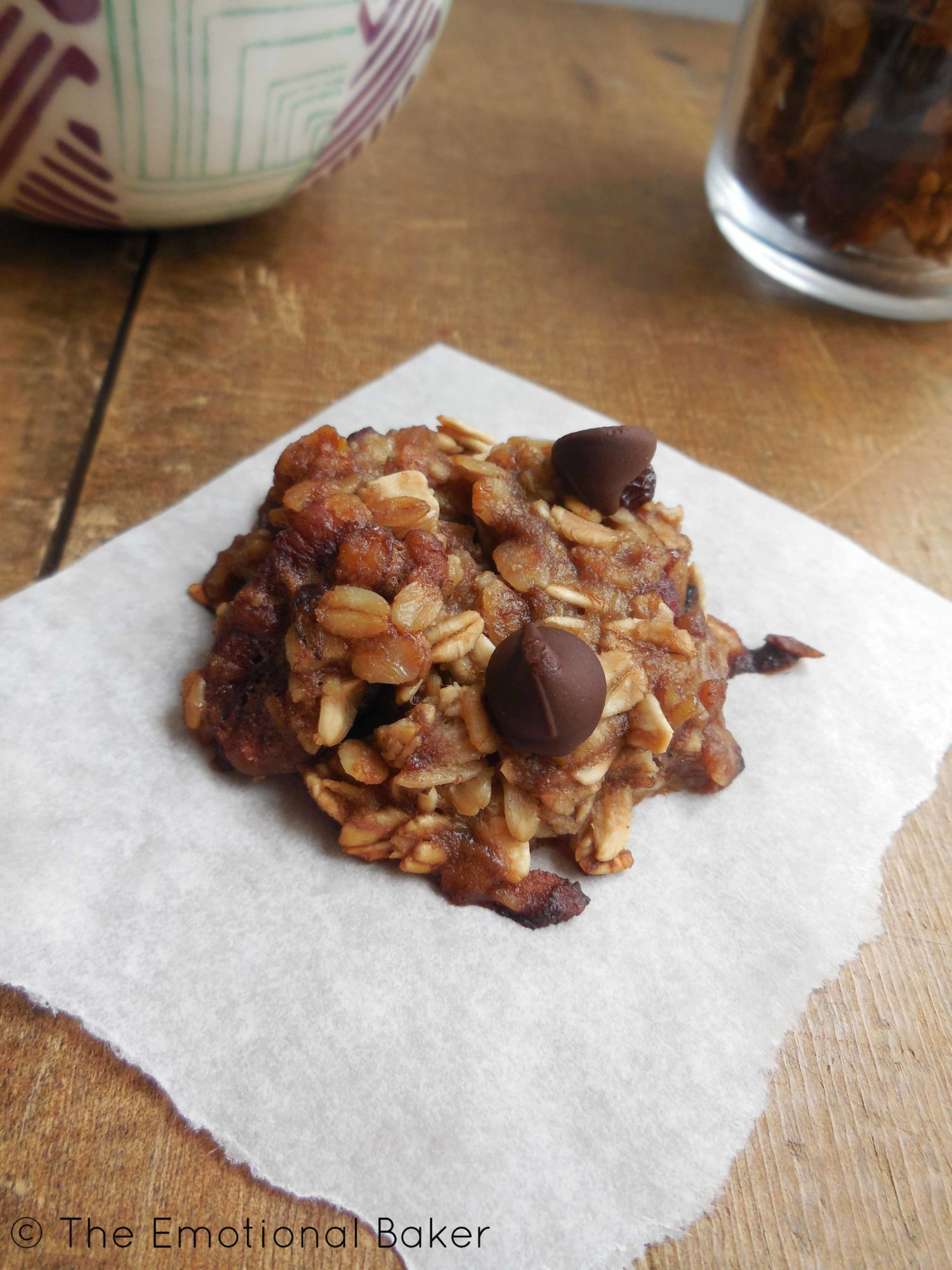 Banana, Chocolate Chip & Granola Cookies Recipe — Dishmaps