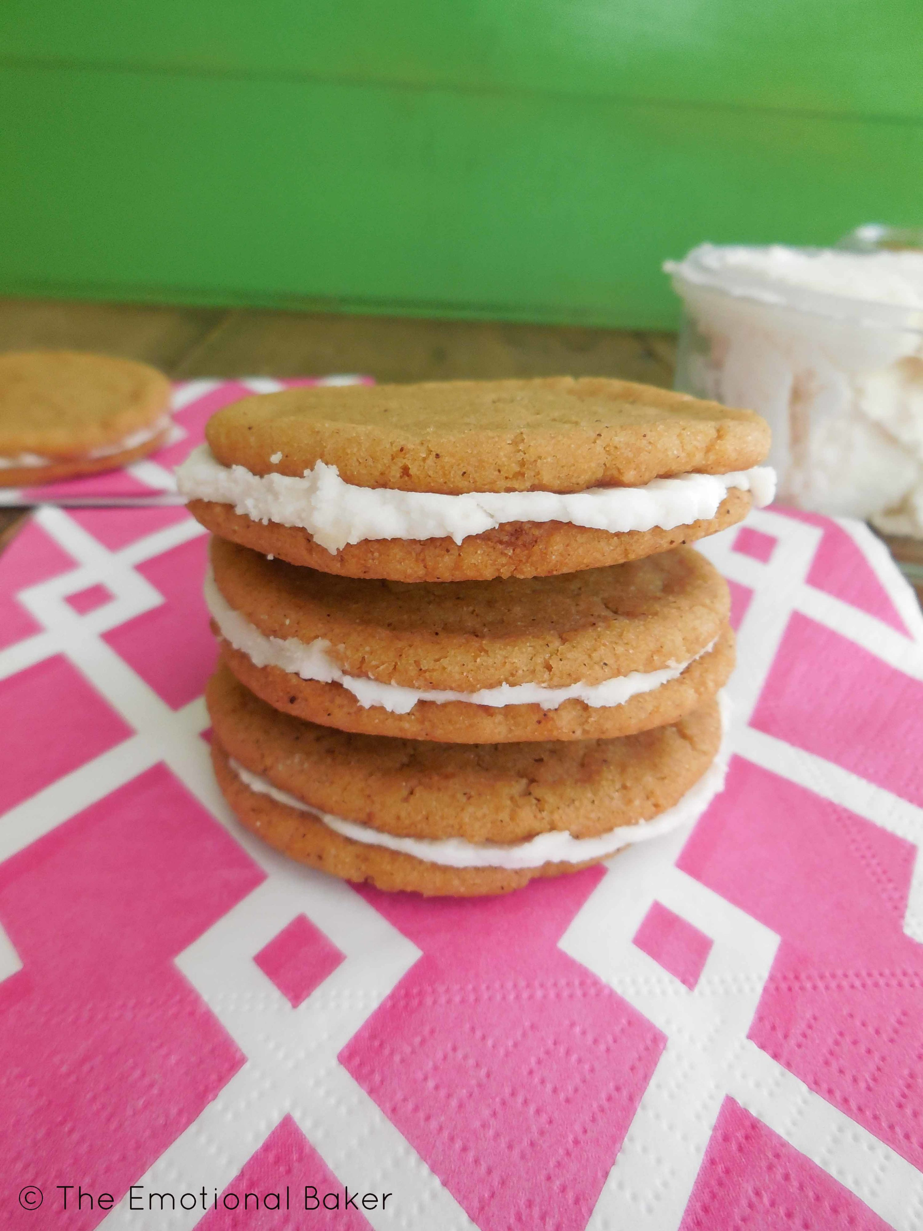 Pumpkin Ginger Sandwich Cookies