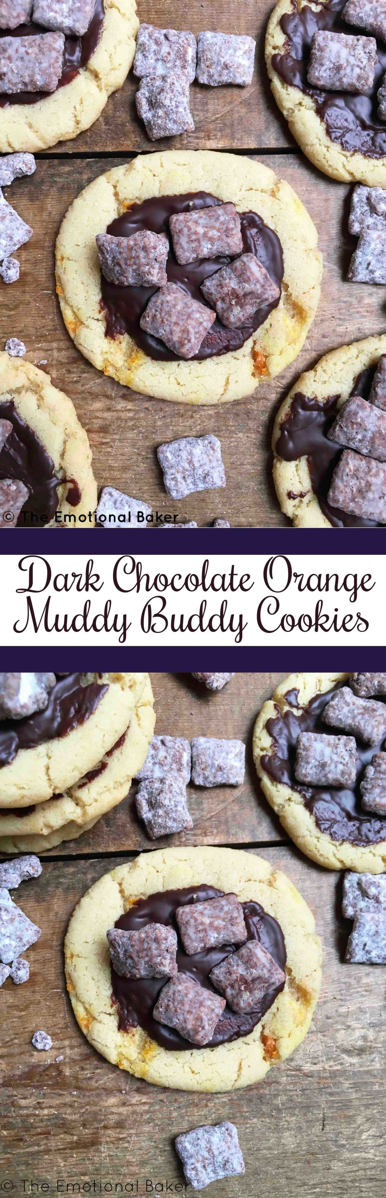 Dark Chocolate Orange Muddy Buddy Cookies