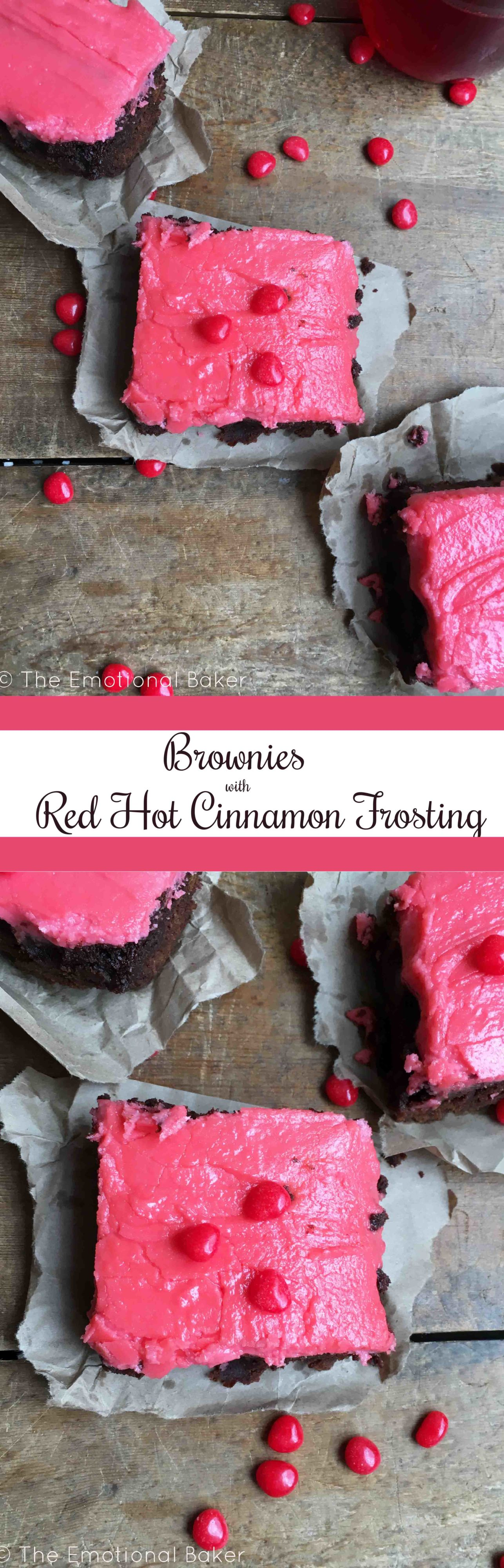 Brownies with Red Hot Cinnamon Frosting