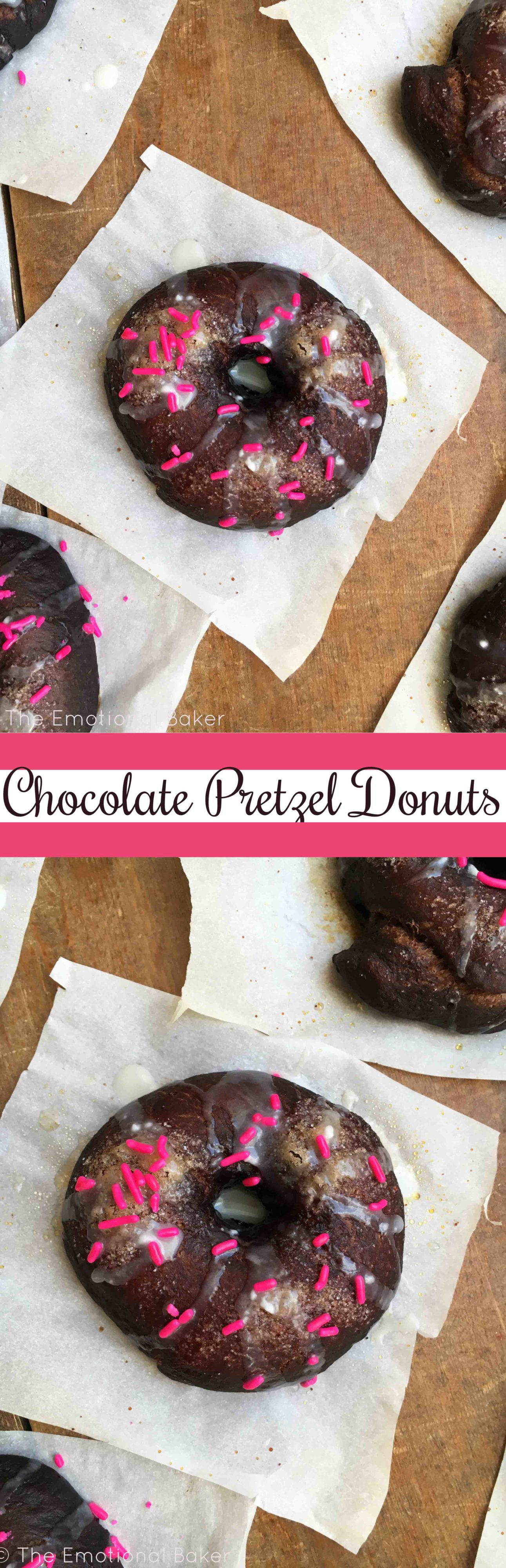 Chocolate Pretzel Donuts
