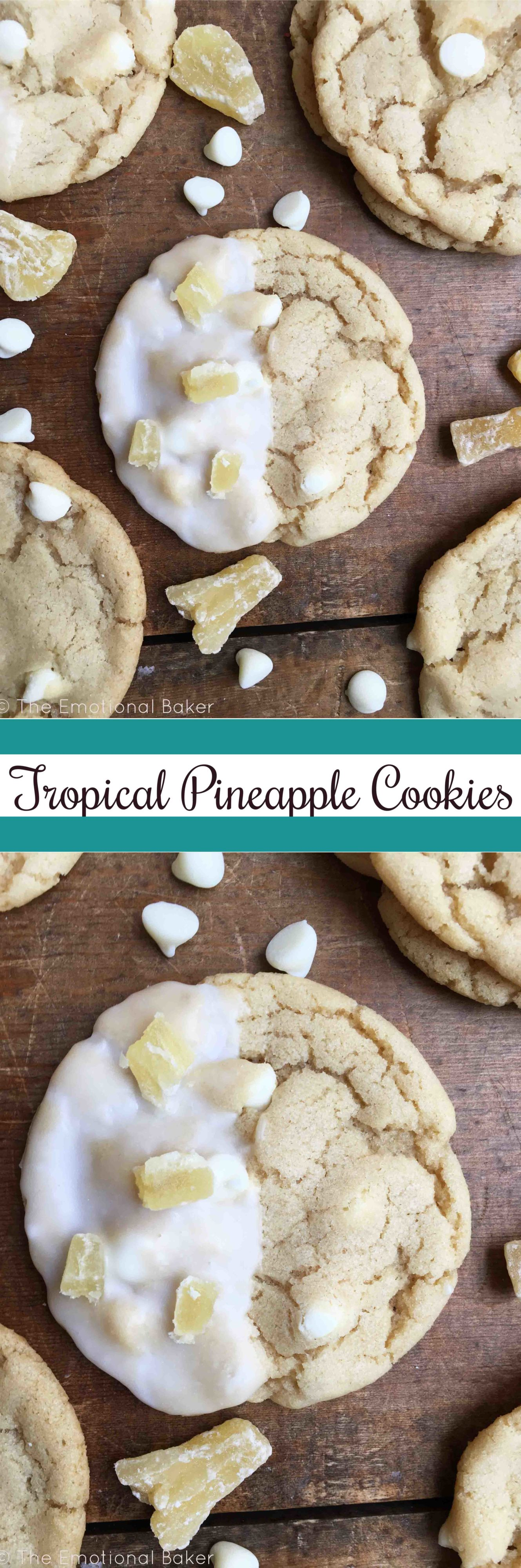 Tropical Pineapple Cookies