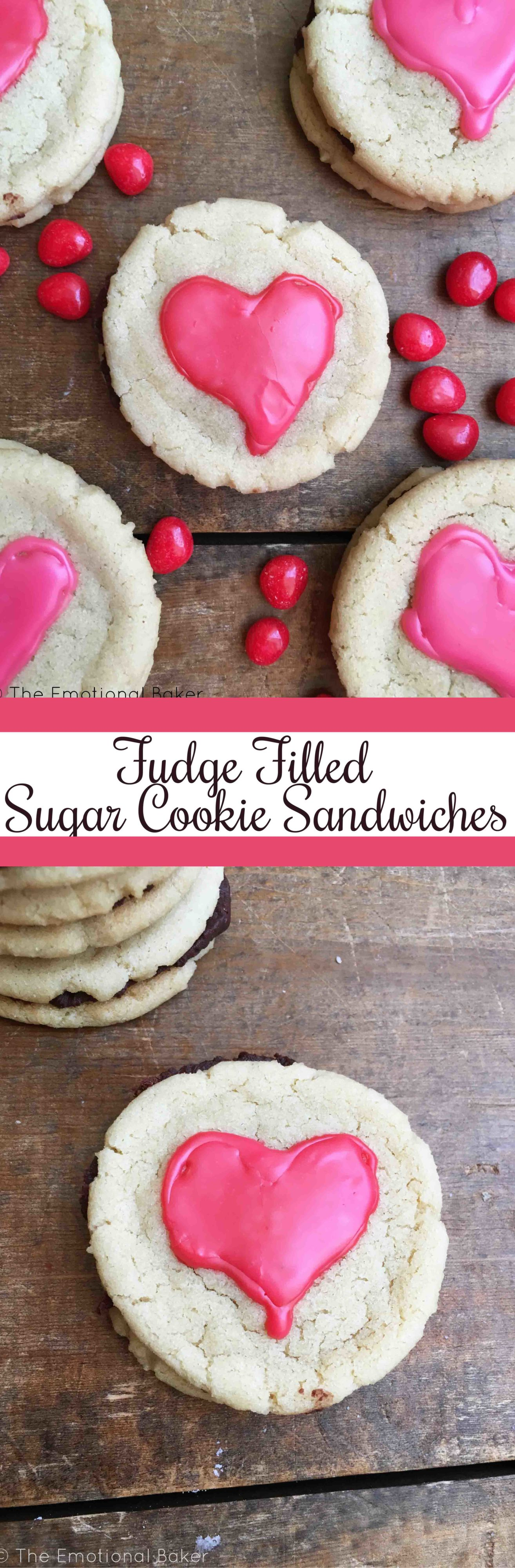 Fudge Filled Sugar Cookie Sandwiches