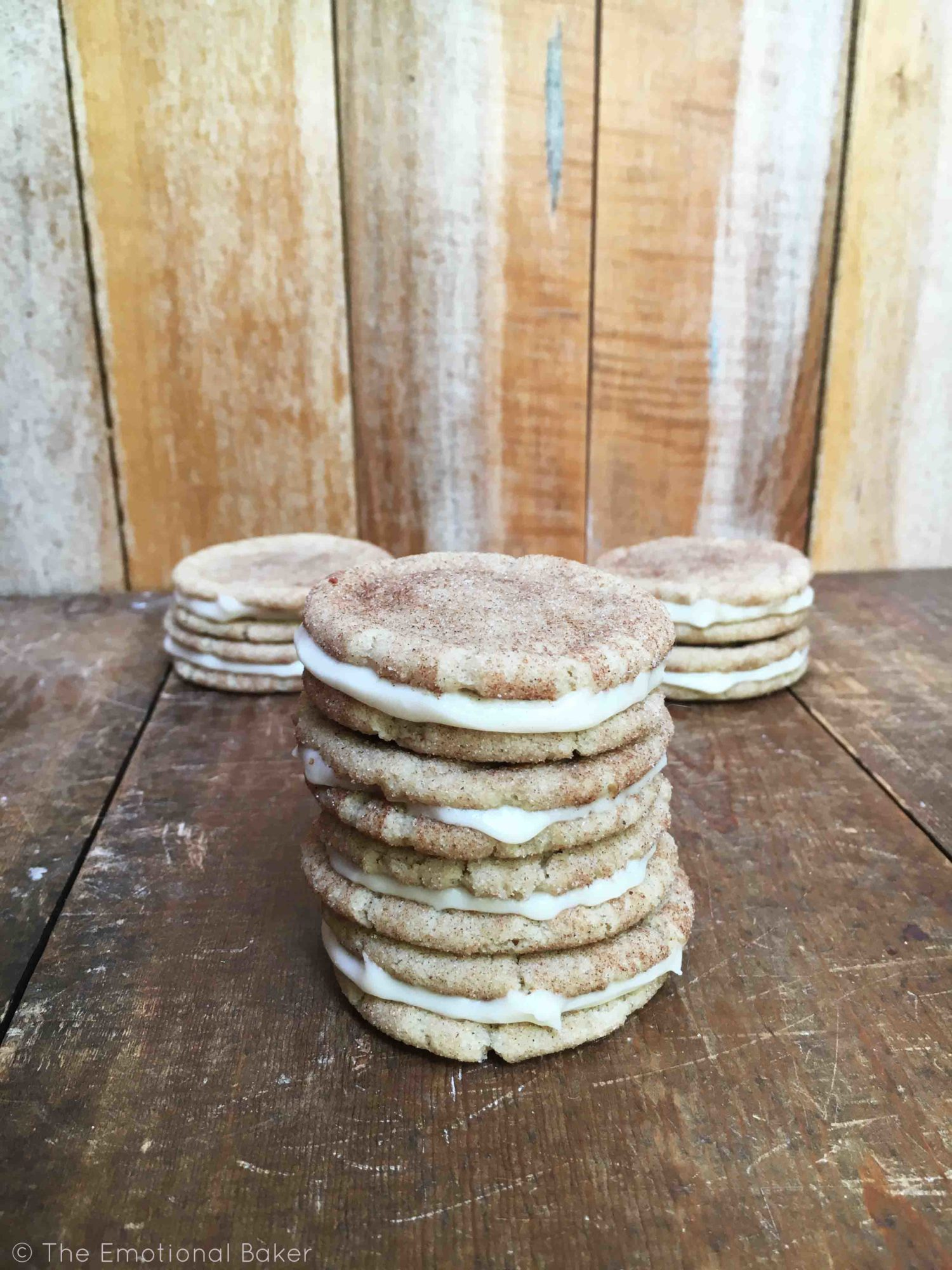 Chai Spiced Snickerdoodles with Vanilla Frosting