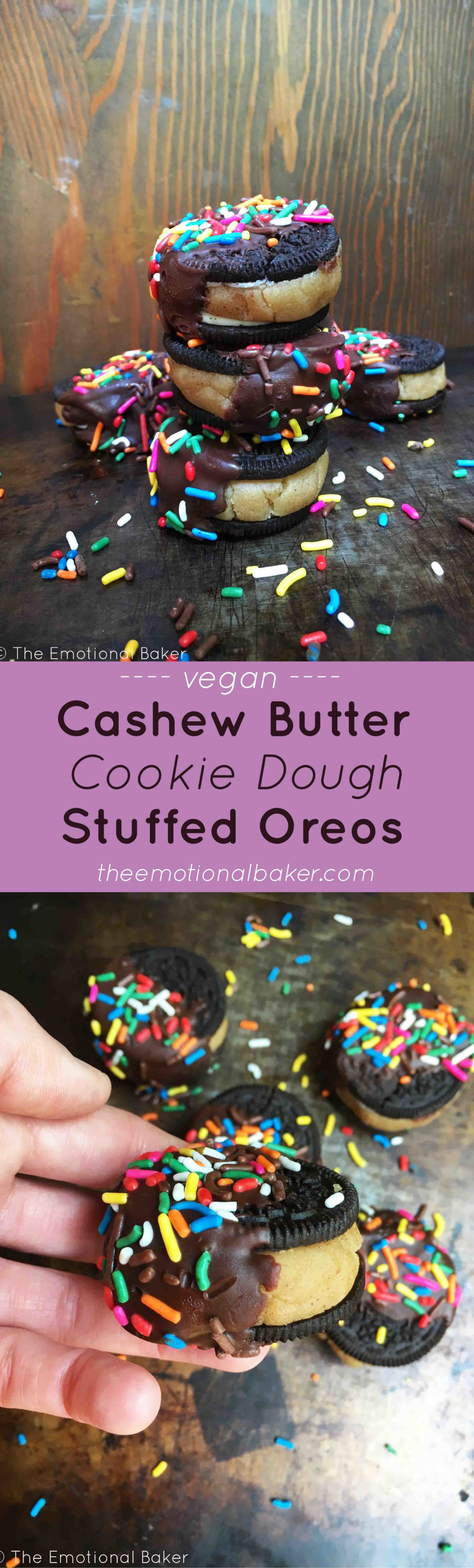 Cashew Butter Cookie Dough Stuffed Oreos