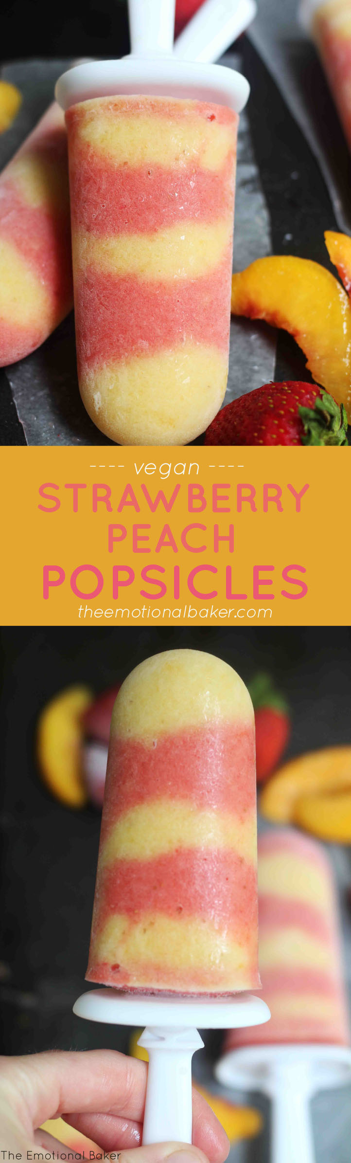 Strawberry Peach Popsicles | The Emotional Baker