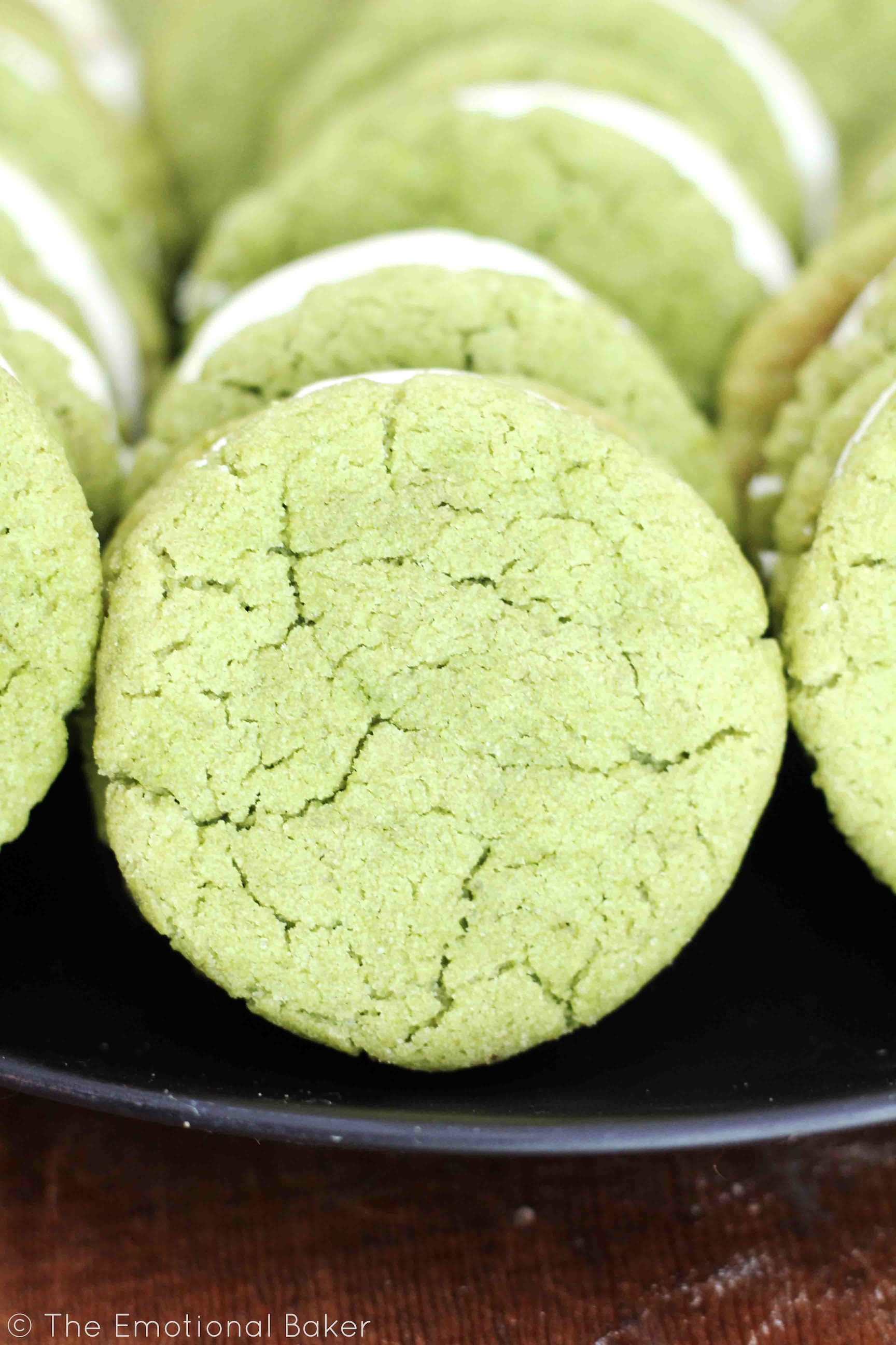 Matcha Almond Sandwich Cookies -- Green tea cookies flavored with ...