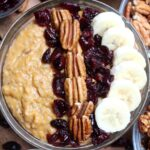 You can have your favorite Thanksgiving side for breakfast! This Sweet Potato Casserole Steel Cut Oatmeal is packed with flavor just like the casserole!