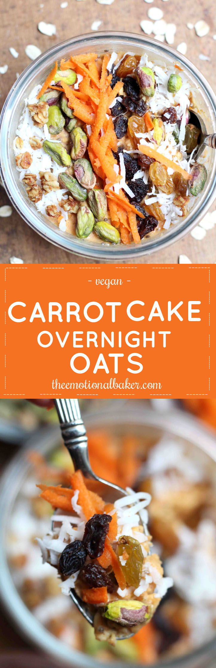 Carrot Cake for breakfast? Yes, Please! These overnight oats are bursting with flavor and will energize your mornings.