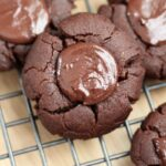 Chocolate Cookies get an update with a luscious Chocolate Tahini filling. You'll love these Chocolate Tahini Thumbprint Cookies!