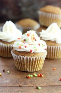 These Vegan Pumpkin Cupcakes are perfect for fall and the holiday season. You won't be able to resist these delicious cupcakes!