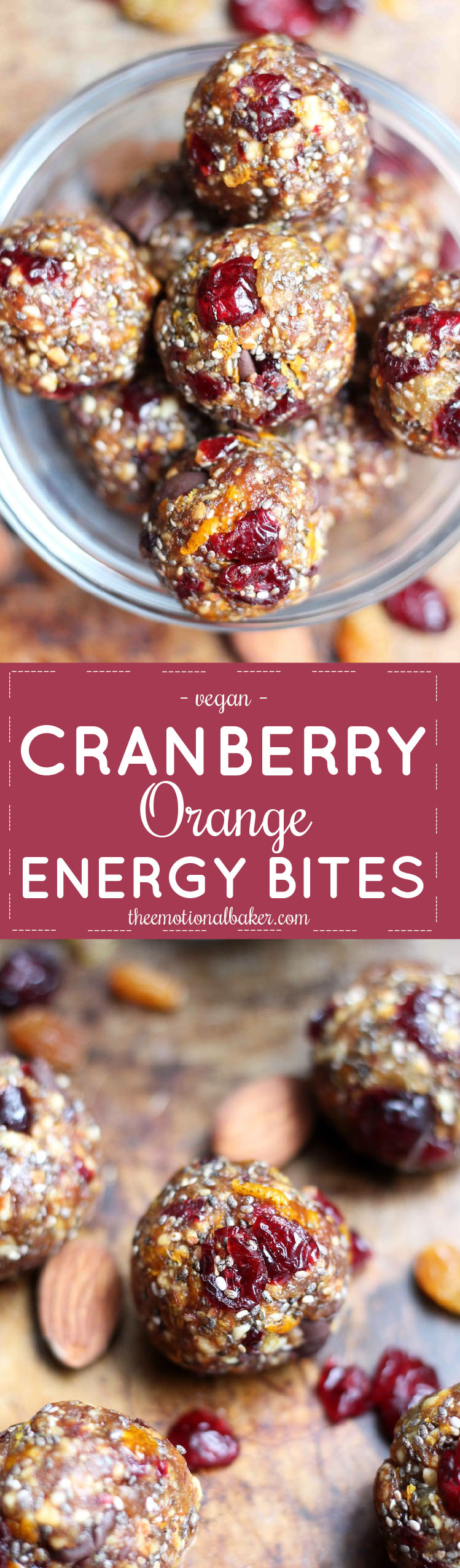 These Cranberry Orange Energy Bites have bright, bold flavor that will give you a jolt for studying, exercising & everything in between.